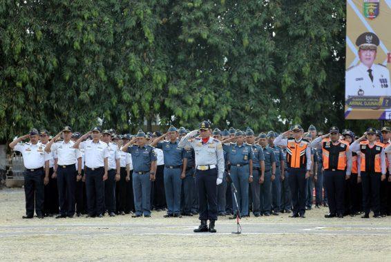 Upacara Hari Perhubungan Nasional, Pj Sekda Lampung Fahrizal Darminta Bacakan Amanat Menteri Budi Karya Sumadi