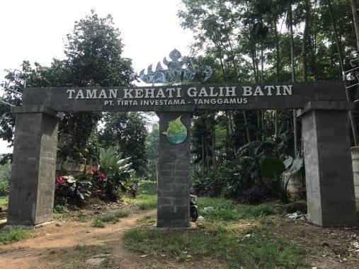 Mitra Bentala dan Danone Aqua Tanggamus Bikin Taman Keanekaragaman Hayati