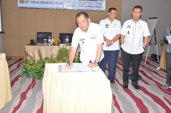 Wakil Bupati Tanggamus AM Syafii Ikuti Diskusi Terarah soal Tata Ruang