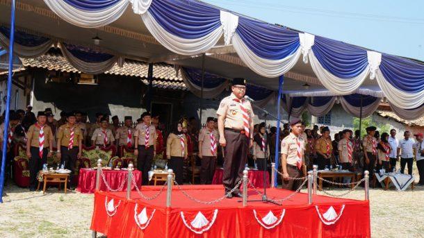 Kepala Dinas Pendidikan Provinsi Lampung Buka Kegiatan Bakti Pramuka Racana Unila di Lamsel