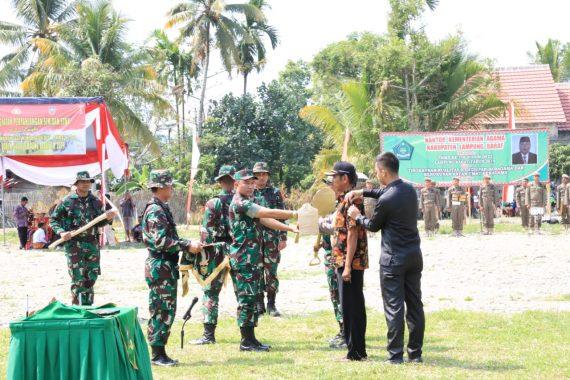 Program TNI Manunggal Membangun Desa di Lampung Barat Digelar di Pekon Bandar Agung