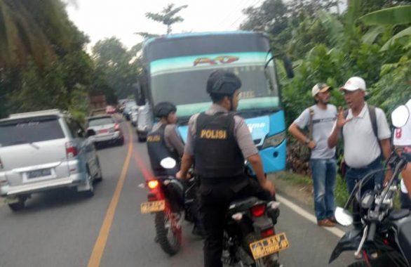 Polres Tanggamus Selidiki Meledaknya Bahan Kimia dalam Bus yang Lukai 5 Orang