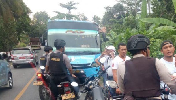 Polres Tanggamus Yakin Meledaknya Bahan Kimia dalam Bus Jurusan Kotaagung-Tanjungkarang Bukan Perkara Terorisme