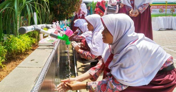 Pemkot Bandar Lampung dan SDIT Permata Bunda III Gelar Semarak Hari Cuci Tangan Pakai Sabun Sedunia