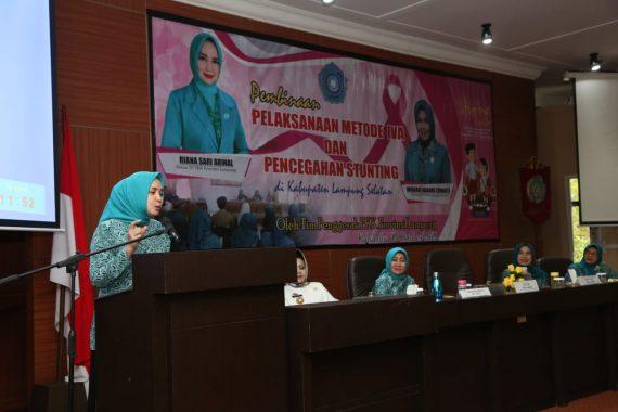 Riana Sari Arinal Buka Pembinaan Pelaksanaan Metode IVA dan Pencegahan Stunting di Lampung Selatan