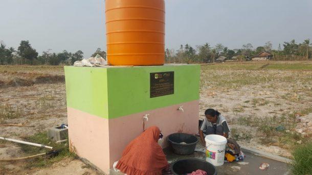 Warga Karang Anyar Lampung Selatan Nikmati Sumur Wakaf ACT Lampung-Global Wakaf