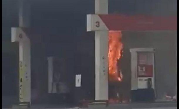 SPBU Kaliawi Bandar Lampung Nyaris Ludes Terbakar