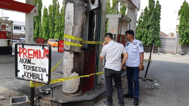 Api dari Sepeda Motor Suzuki Thunder Picu Kebakaran SPBU Jalan Cut Nyak Dien Kaliawi