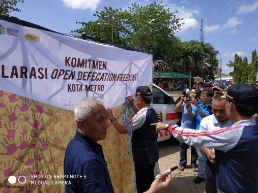 Komitmen Metro Bebas Perilaku Buang Air Besar Sembarangan, Wali Kota Pairin Minta Dana Kelurahan Dialokasikan untuk WC Sehat