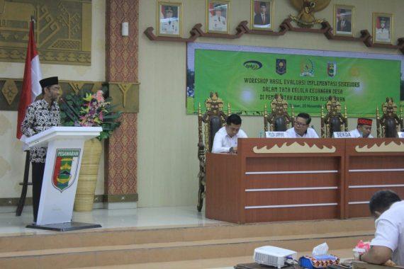 Abdul Hakim Narasumber Lokakarya Evaluasi Implementasi Sistem Keuangan Desa