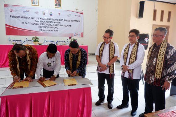 Desa Titiwangi Kecamatan Candipuro Lampung Selatan Jadi Desa Inklusi Keuangan