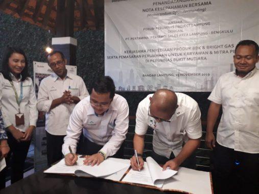 Perumnas Lampung Teken Nota Kesepahaman dengan Pertamina