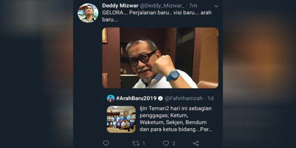 Lewat Cuitan Twitter, Deddy Mizwar Isyaratkan Bakal 'Nyebrang' ke Partai Gelora
