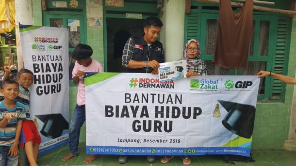 Sunwanah Terima Bantuan dari ACT Lampung Lunasi Tunggakan Sekolah Anak