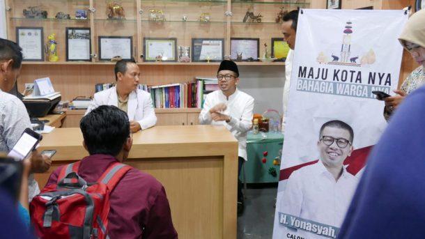 Bakal Calon Wakil Wali Kota Bandar Lampung Yonasyah Bidik Warga Bertato, Mau Diapain Sih, Bung?
