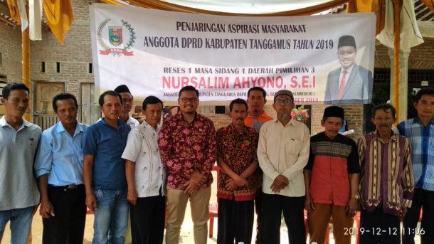 Reses di Kecamatan Sumberejo, Anggota Fraksi PKS DPRD Tanggamus Nursalim Ahyono Janji Perjuangkan Rumah Tahfiz