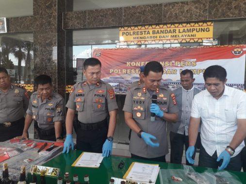 Puluhan Penjahat di Bandar Lampung Diringkus Polisi