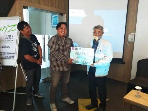 Wartawan Jejamo.com Andi Apriyadi Juara 1 Kompetisi Jurnalistik TNBBS