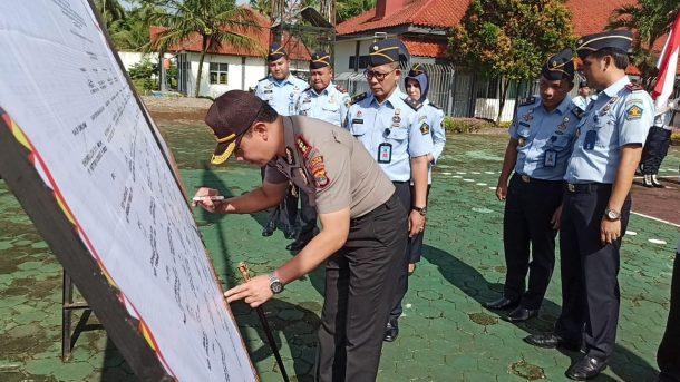 Kapolres Tanggamus Hadiri Deklarasi Kinerja Lapas dan Rutan Kotaagung