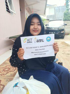 ACT Lampung Bantu Bahan Pokok untuk Keluarga Pengemudi Ojek Online Imbas Wabah Corona