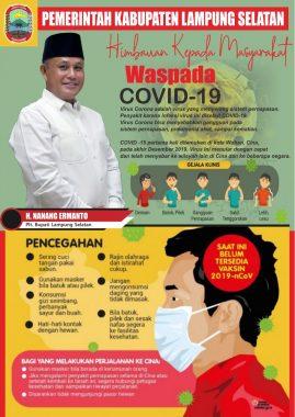 Waspada Covid-19! Ini Imbauan Plt Bupati Lampung Selatan Terkait Virus Corona