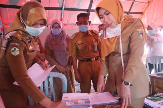 Bupati Tanggamus Dewi Handajani Pimpin Apel Gabungan