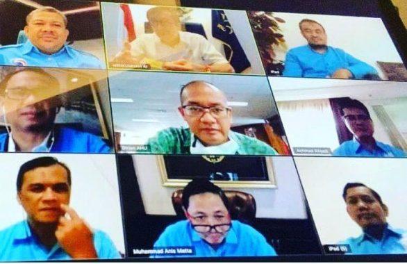 Partai Gelora Daftar ke Kemenkumham, Audiensi dengan Menteri Yasonna Laoly dengan Virtual