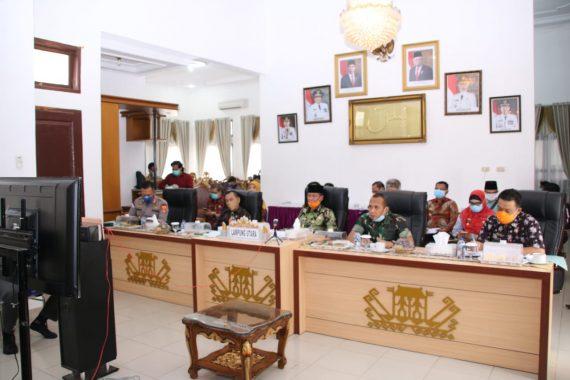 Plt Bupati Lampung Utara Ikuti Telekonferensi Gubernur Lampung Soal Penanggulangan Corona