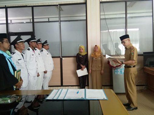 Empat Penjabat Kepala Pekon di Tanggamus Dilantik