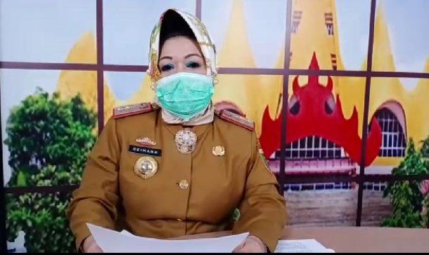 Sekda Tanggamus Rapat Via Video Jarak Jauh dengan Kepala Dinas Terkait Penanganan Covid-19
