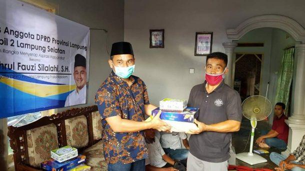 Wahrul Fauzi Silalahi Serap Aspirasi dan Beri Bingkisan untuk Warga Terdampak Covid-19 di Lampung Selatan