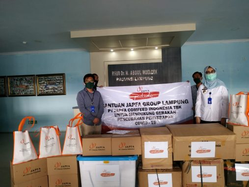 JAPFA Bersama Anak Usaha Salurkan 700 APD ke Rumah Sakit Rujukan di Lampung
