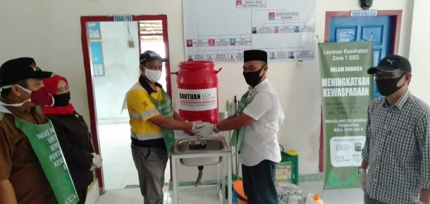 Coca Cola Amatil Indonesia Bangun Kesadaran Cegah Corona di Desa Sukanegara Tanjungbintang