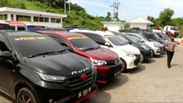Polisi Tahan Kendaraan yang Hendak Menyeberang Melalui Pelabuhan Bakauheni