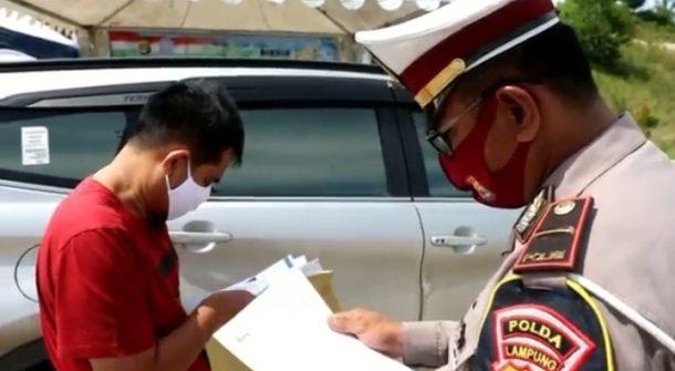 Polda Perketat Pengawasan Keluar Masuk Lampung, 73 Pos Pengamanan dan 7 Pos Penyekatan Disiagakan
