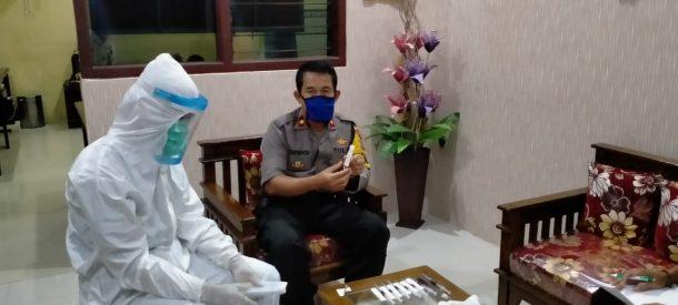 Pejabat Utama Polres Tanggamus Jalani Rapid Test Covid-19