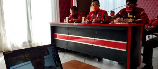 BPBD Lampung Selatan Rakor Via Konferensi Video dengan BNPB RI, Edukasi Protokol Kesehatan Jadi Topik Utama