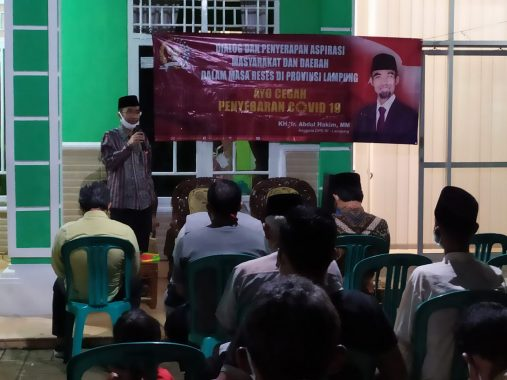 Senator Lampung Abdul Hakim Dengar Curhat Ketua RT di Metro Selatan