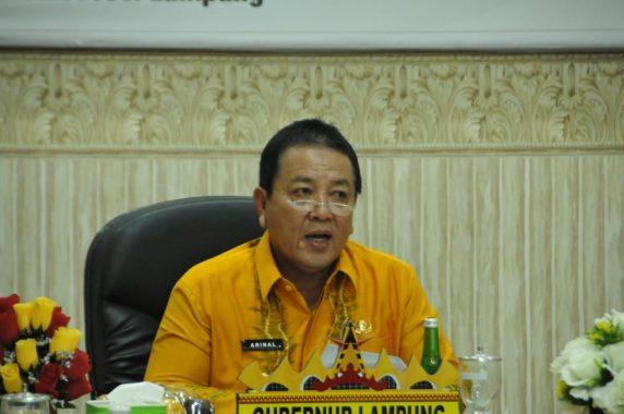 Gubernur Lampung Arinal Djunaidi Buka Rakor Gugus Tugas Reformasi Agraria
