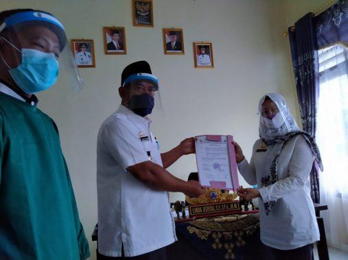 SMKN 1 Way Kenanga Tulangbawang Barat Koordinasi dengan Gugus Tugas Jelang Tahun Ajaran Baru