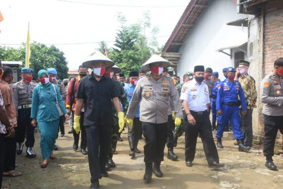 Kapolda Lampung Kunjungi Kampung Tangguh Nusantara di Pulung Kencana Tulangbawang Barat