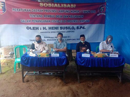 Heni Susilo Sosialisasikan Perda Rembuk Desa di Tanggamus