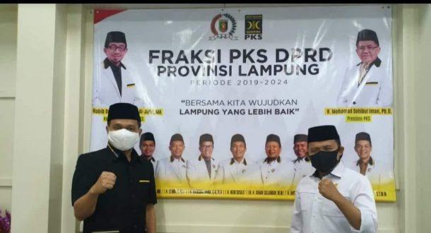 Usai Dapat Rekomendasi Golkar, Antoni Imam Lapor ke Ketua Umum PKS Lampung Mufti Salim, Keduanya Saling Mendoakan