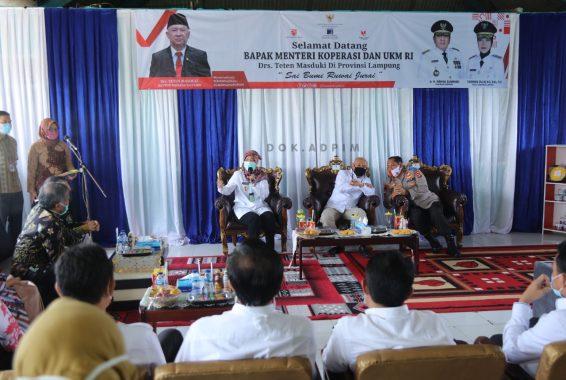 Teten Masduki Dorong Pemprov Lampung Bangun Koperasi Pangan