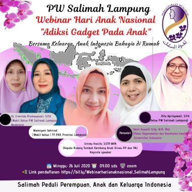 Webinar Hari Anak Nasional Salimah Lampung: Tips Cegah Anak Kecanduan Game dan Medsos