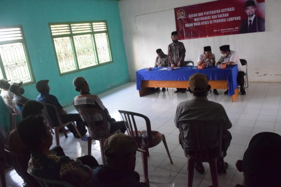 Abdul Hakim Serap Aspirasi Pamong Kelurahan Sumber Sari Metro Selatan