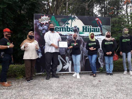 Taman Wisata dan Satwa Lembah Hijau Raih Penghargaan Pemkot Bandar Lampung