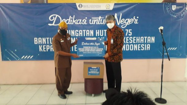 BI Lampung Salurkan Bantuan untuk Veteran