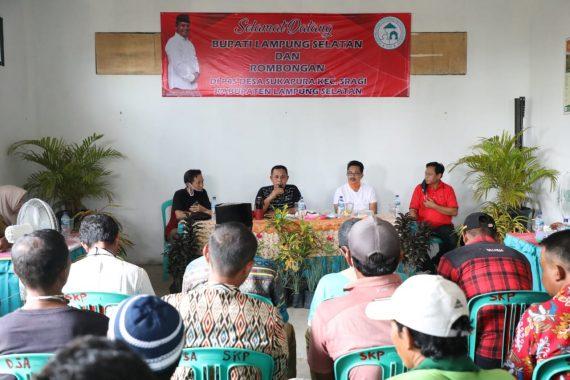 Silaturahmi dengan Gapoktan Sragi, Nanang Ermanto Apresiasi P4S Desa Sukapura