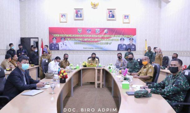 Webinar Antisipasi Covid-19, Pangdam Sriwijaya dan Gubernur Arinal Soroti Tingginya Mobilitas Keluar dan Masuk Lampung